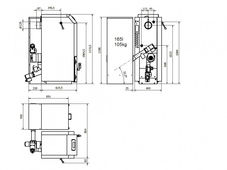 KP08 схема с бункер 165 л. дясно