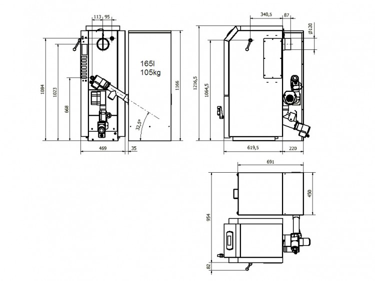 KP08 схема с бункер 165 л. ляво
