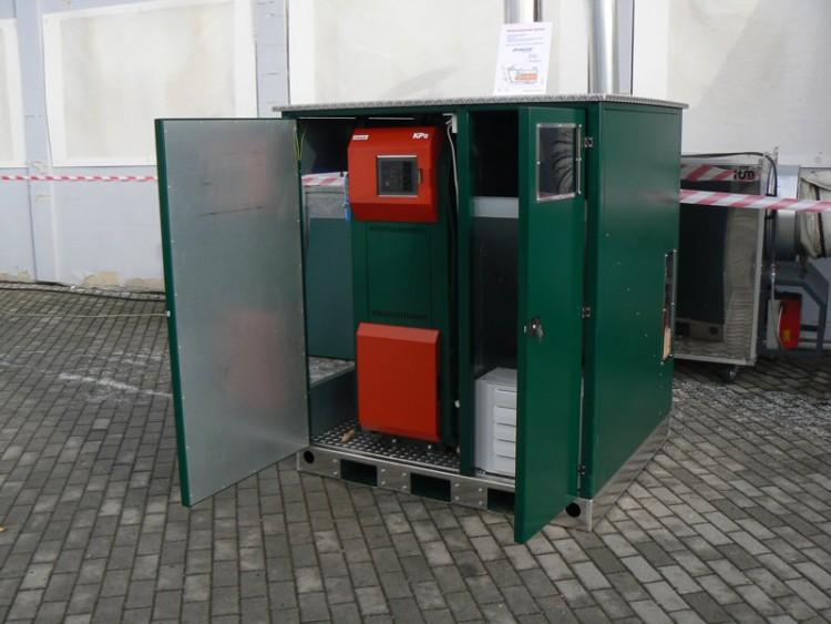 Котелна инсталация в мини контейнер